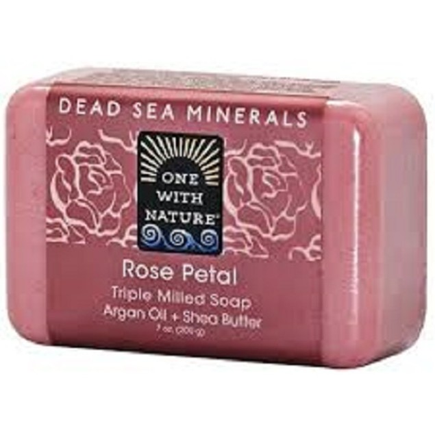 One with Nature Dead Sea Minerals Rose Petal Soap Bar