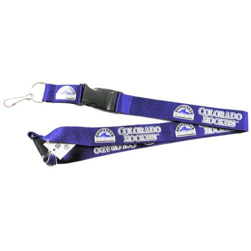Colorado Rockies Clip Lanyard Keychain Id Ticket MLB - Purple