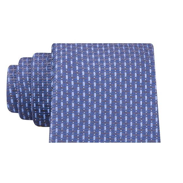 Kenneth Cole Reaction Men's Brick Slim Geo Tie Navy Size Regular