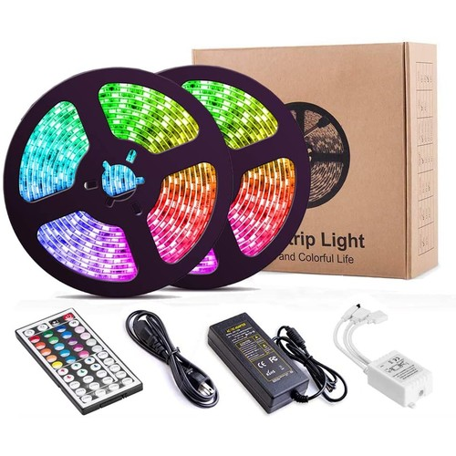 LED Strip Lights 32.8 feet 5050 RGB Color Changing LED Lights for Bedroom, Kitchen, Party, Home Decoration