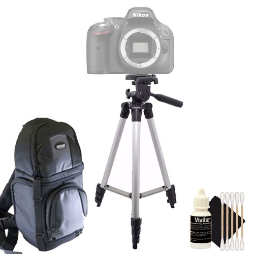 Tall Tripod + DSLR Backpack + 3pc Cleaning Kit