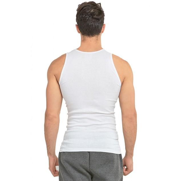 6-Pack Knocker Men's 100% Cotton White A-Shirts