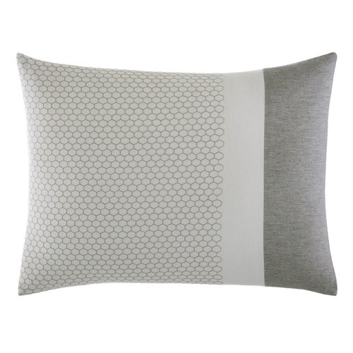 "Vera Wang Tuille Floral Throw Pillow 15"" x 20"" Grey"