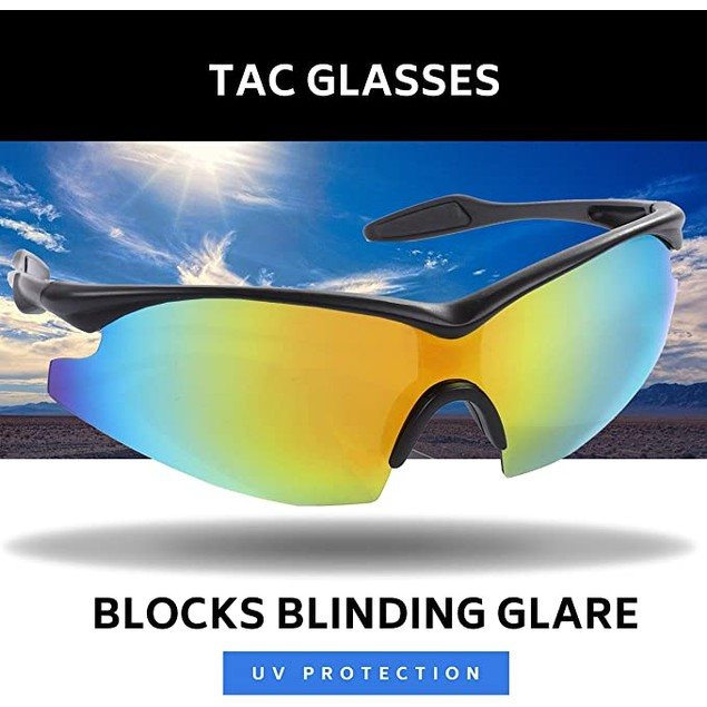 TAC GLASSES by Bell+Howell Sports Polarized Sunglasses for Men/Women