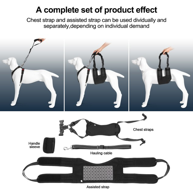 XL SUPPORT HARNESS SET ADJUSTABLE CHEST SLING STRAP ELDERLY DISABLE DOG