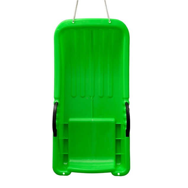 Winter durable Plastic snow Sled in boat shape 31.5*15.7*5.3 inch green
