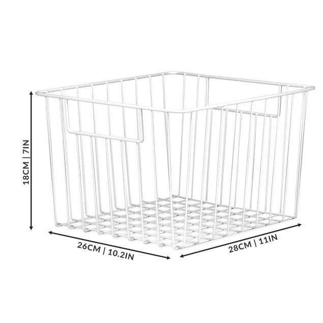 Pack of 2 Mesh Storage Baskets   MandW