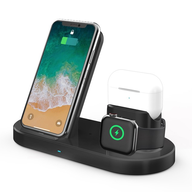 3-in-1 Wireless Desktop Charging Station Magnetic Fast Charging Stand