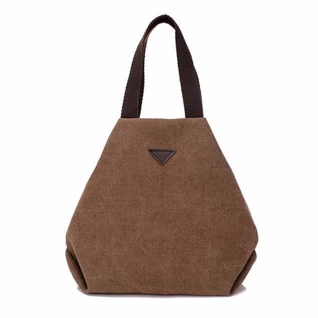Womens Retro-Style Canvas Handbag