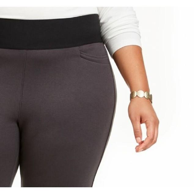 Style & Co Women's Plus Size Wide-Waistband Pont茅-Knit Leggings Size 20