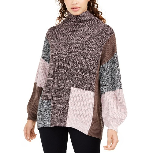 American Rag Juniors' Colorblocked Sweater Pink Size Extra Large