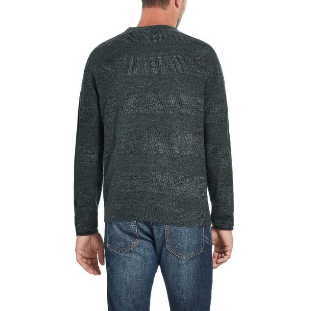 Weatherproof Soft Touch Stripe Crew Neck Sweater Green 3 Extrta Large