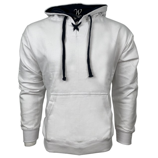 Men's Lace Up Sports Heavy Weight Pull Over Hoodie