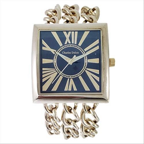 Charles Delon Women's Watches 4397 LABD Gold/Gold Stainless Steel Quartz Square