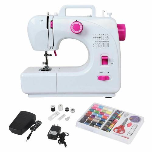 Costway 2-Speed Multi-function Fashion Portable Sewing Machine Serger w/16