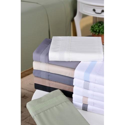 Embroidered PEAKS Pillowcases, 2-Piece, Wrinkle Free Microfiber