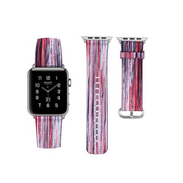 iPM Genuine Leather Painted Bright Color Apple Watch Band
