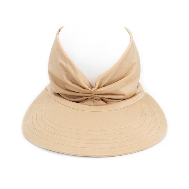 Haute Edition Women's Ruched Stretchy Headband Sun Visor Hat