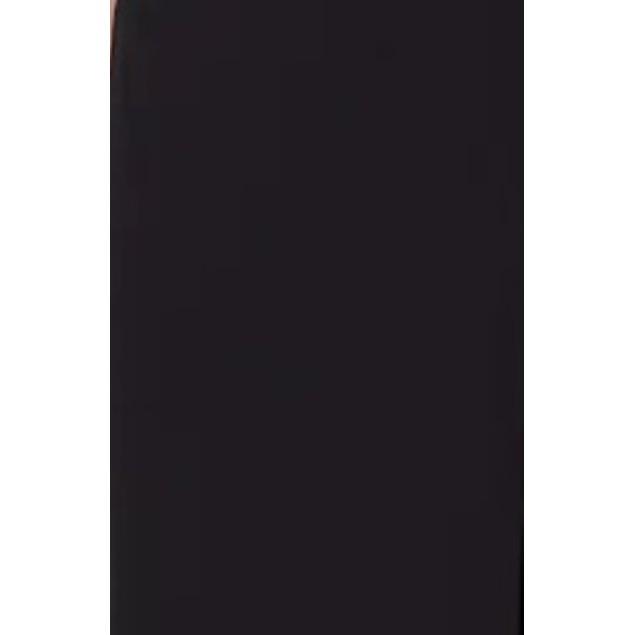 Tahari ASL Women's Front-Slit Crepe Pencil Skirt Black Size 4