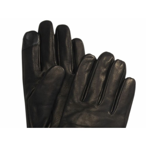 Calvin Klein Men's Leather Touch-Screen Gloves Black Size Extra Large