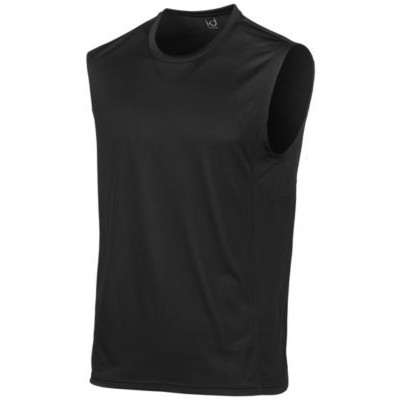 Ideology Men's Mesh-Trimmed Sleeveless T-Shirt Black Size Medium
