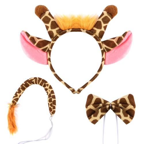 Giraffe Halloween Costume Set - Ears,Tail,Bow Tie