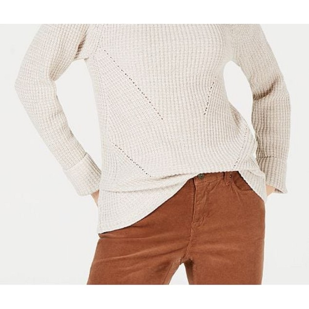 Style & Co Women's Crewneck Marled Sweater Beige Size Extra Large