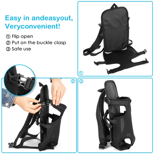 LEGS OUT FRONT DOG CARRIER ADJUSTABLE PET CARRIER BACKPACK FOR SMALL PET