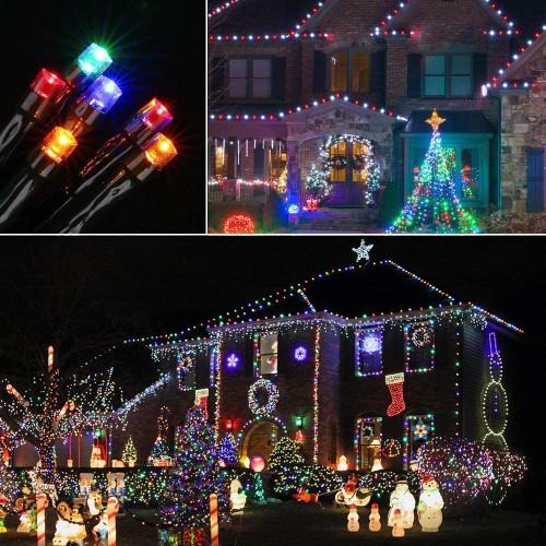 Solar 200 LED Multi-Color String Lights