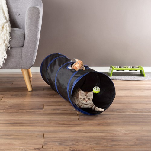 Collapsible Cat Tunnel- Interactive Play Tube for Cats, Kittens