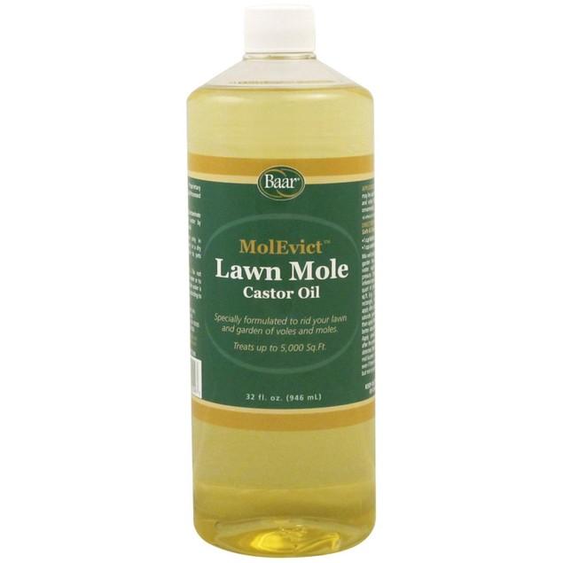 Baar Lawn Mole Castor Oil, MolEvict, For Moles and Voles, 32 Oz