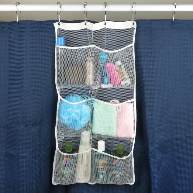 Quick Dry Hanging Shower Caddies With 6 Pockets, Choose Single or 2 Pack