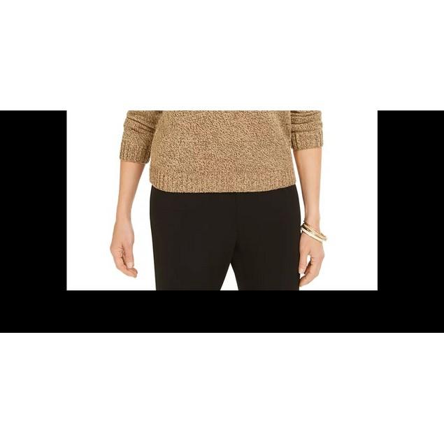 Karen Scott Women's Marled Button Sweater Brown Size Small