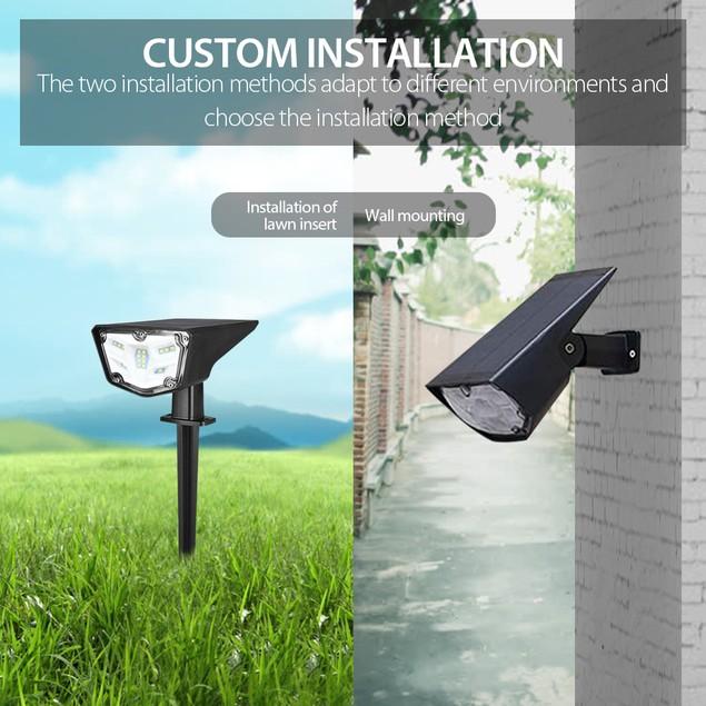 2Pack 16LED Solar Spotlights Waterproof Outdoor Garden Yard Lawn&Wall Lamp