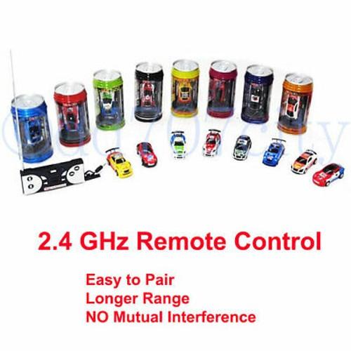 NEW 2.4 GHz Multicolor Coke Can Mini Speed RC Radio Remote Control Toy