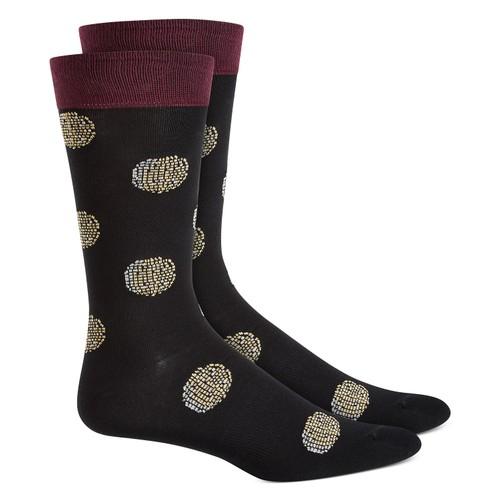 Bar III Men's Printed Socks  Black Size Regular