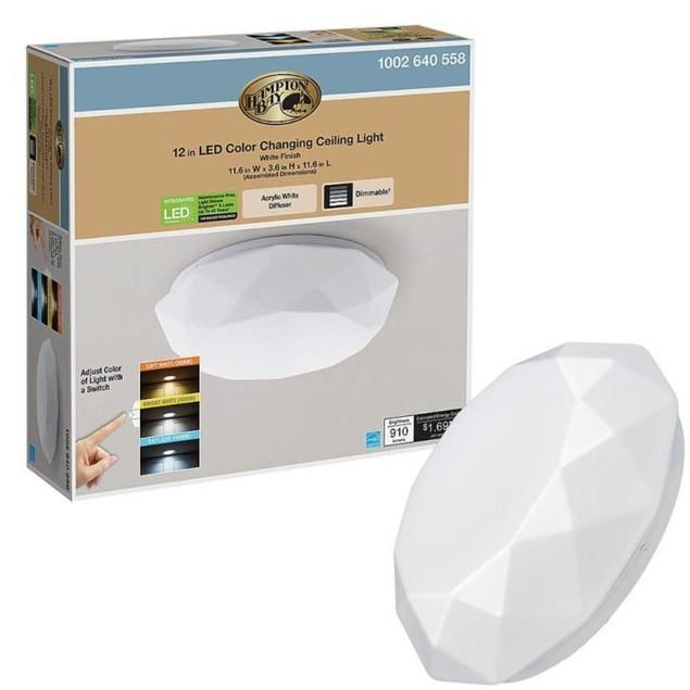 Hampton Bay 12 Inch Diamond Design Color Changing LED Flush Mount Ceilling