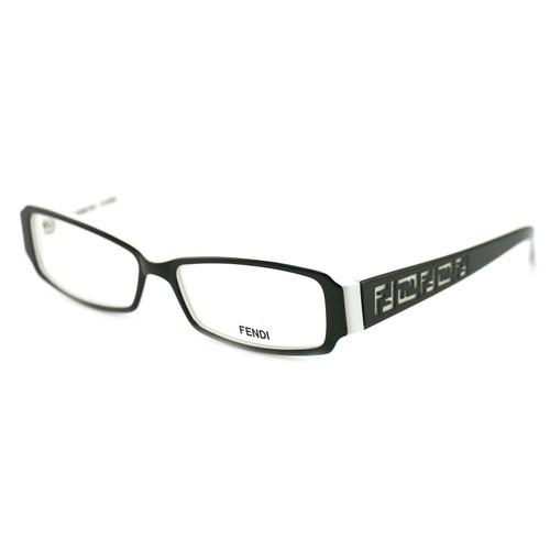 Fendi Women's Eyeglasses F664 961 Black/White 53 14 140 Full Rim Rectangular