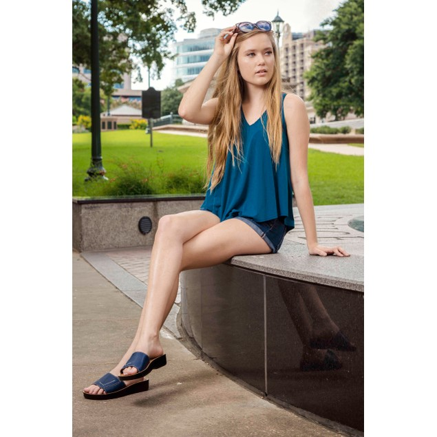 AEROSOFT Prissy Women's Classic Outdoor Walking Summer Slip On Sandal