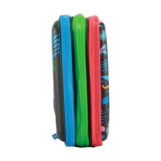 Smilykiddos hartdtop triple up pencil case Black