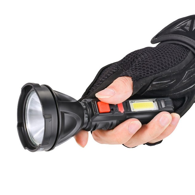 Multi-function USB Rechargeable, Strong Light Led Lighting, Outdoor Flashlight With Side Light