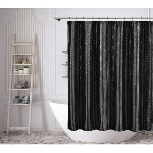 Zane Metallic Diamond Shower Curtain