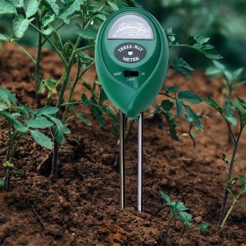 3 in 1 Soil Tester Soil Moisture/Light/pH Meter for Gardens Lawn Farms