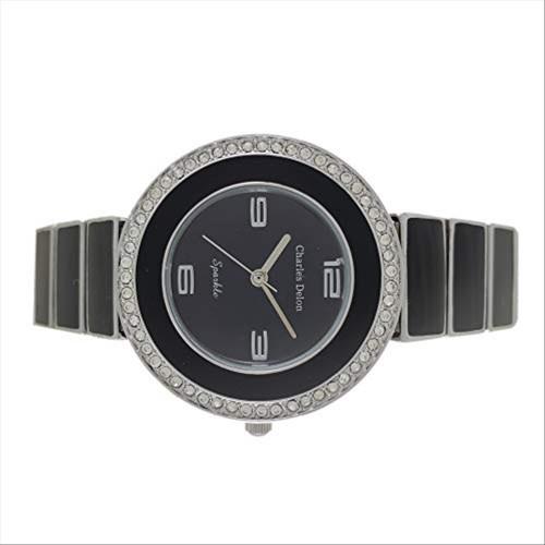 Charles Delon Women's Watches 5174 LIBB Black/Black/Silver Stainless Steel Quartz