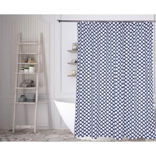 Medici Fishscale 100% Cotton Shower Curtain
