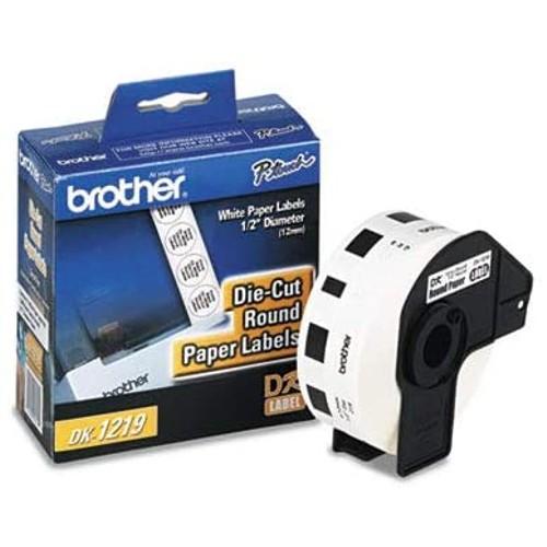 Brothers BRTDK1219 - Brother Die-Cut Round Paper Labels