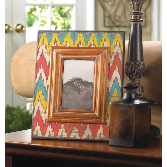 Koehler Ikat Chevron Wood Photo Frame 4 x 6