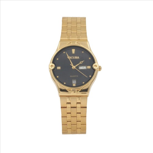 Sicura Womens Watches SJH 3832 52E Black Quartz Stainless Steel Gold Tone