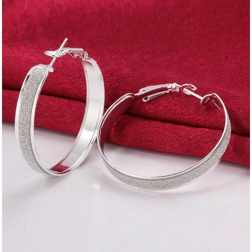 Crystal Dust Hoop Earrings
