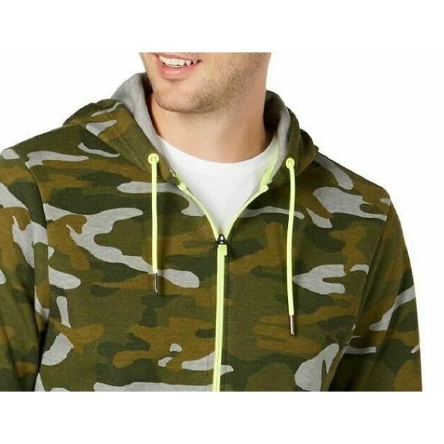 Ideology Men's Colorblocked Camo Jacket Green Size Large